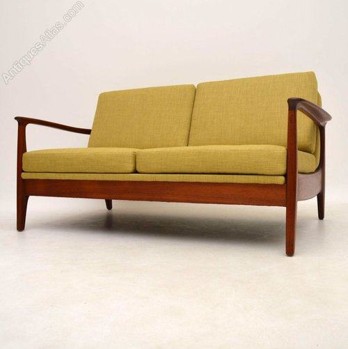 Antiques Atlas Danish Teak Retro Two Seat Sofa Vintage
