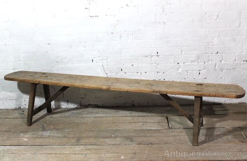 Cool 18Th C French Sycamore Bench 2M Wide Dailytribune Chair Design For Home Dailytribuneorg