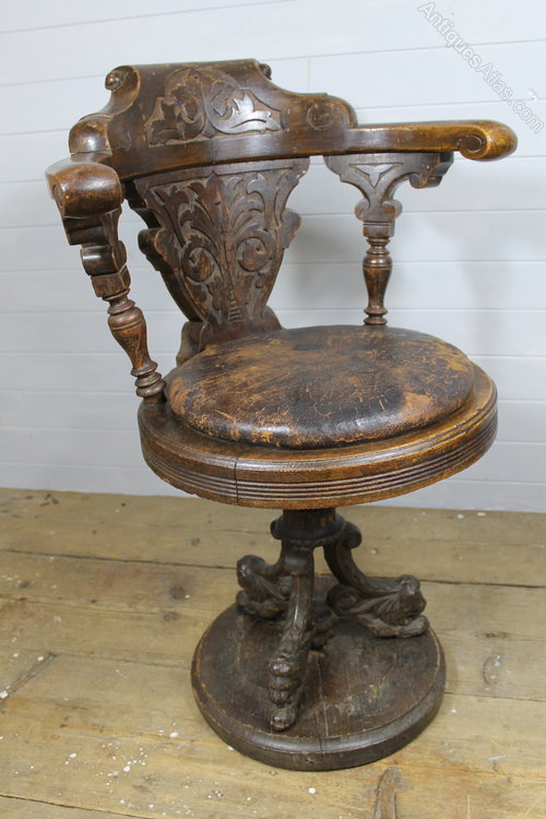 19th C Oak Ship S Swivel Chair Antiques Atlas