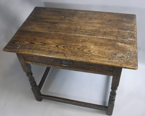 Early 18th Century Oak Side Table Antique ...