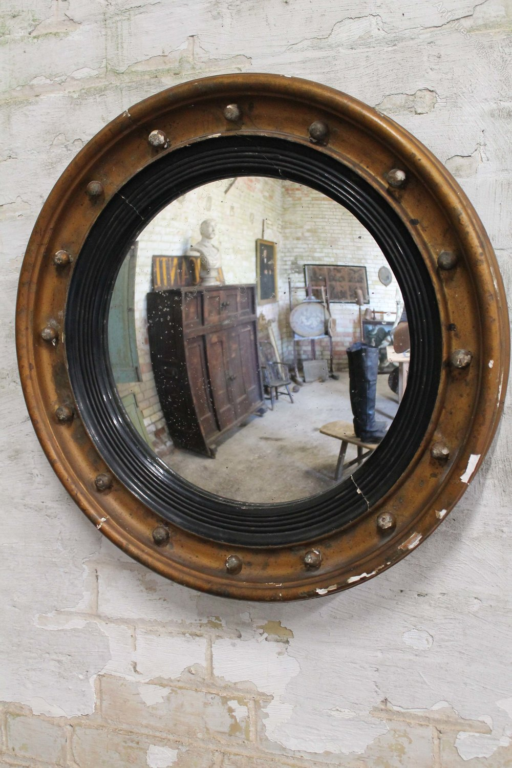 Antiques Atlas Early 19th C Country House Convex Mirror