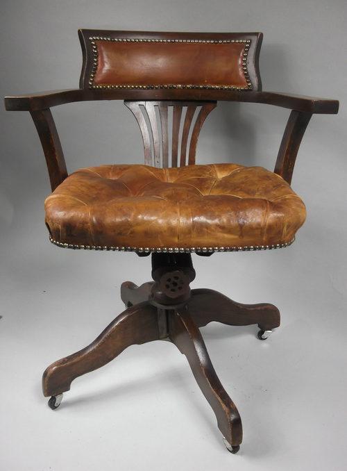... Antique Office Chairs Tilt Swivel Desk