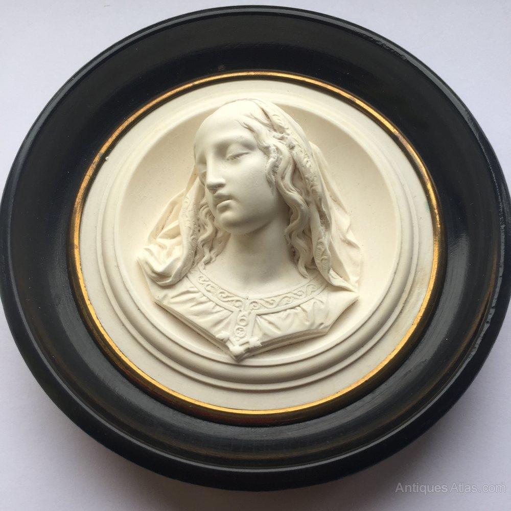 Antiques Atlas - Miniature Relief Alabaster Female Bust