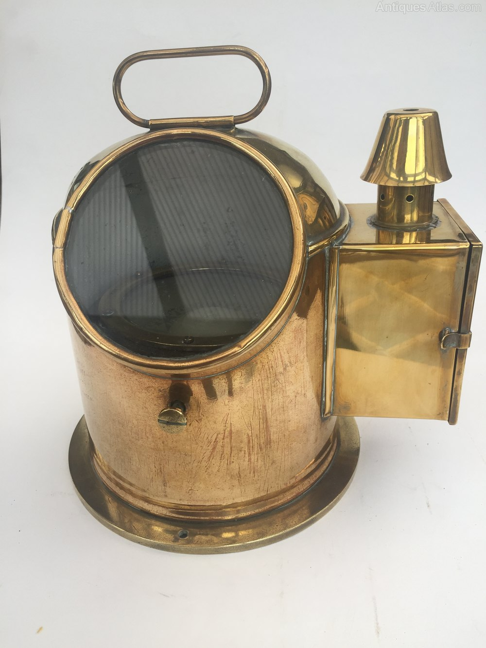 Early brass ships binnacle compass