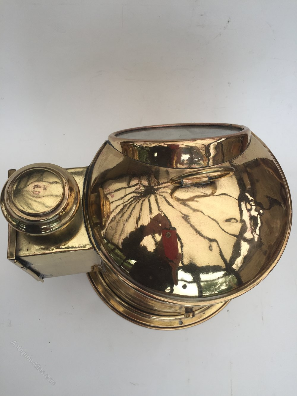 Brass Nautical Ship Compass Antique Gimbal Marine Binnacle