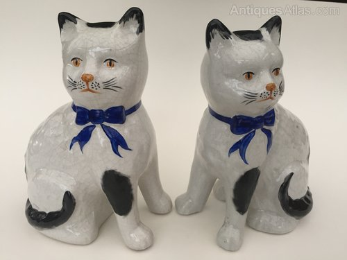 Antiques Atlas Pair Staffordshire Cats