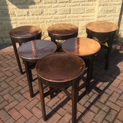 Antiques atlas six copper top bar tables 1940 50s watchthetrailerfo