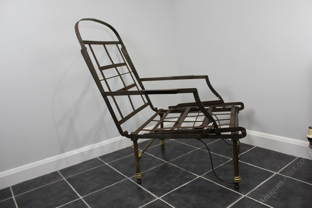 antique metal campaign chaise chair antiques atlas. Black Bedroom Furniture Sets. Home Design Ideas