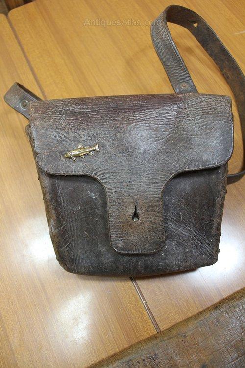 Vintage Fishing Bag Wallet Antique And Tackle