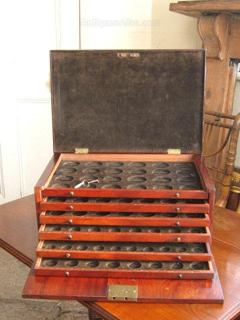 Mahogany Coin Collectors Cabinet Antiques Atlas