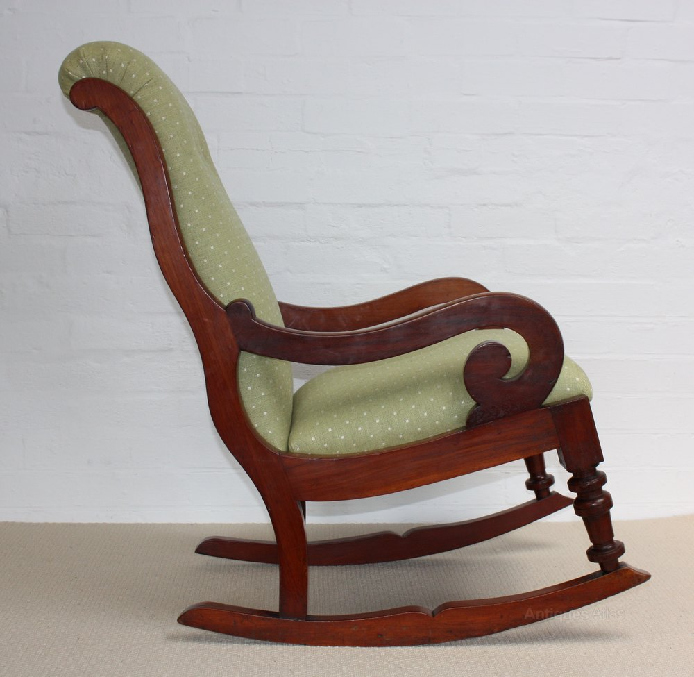 Marvelous A Victorian Mahogany Rocking Chair Antiques Atlas Beatyapartments Chair Design Images Beatyapartmentscom