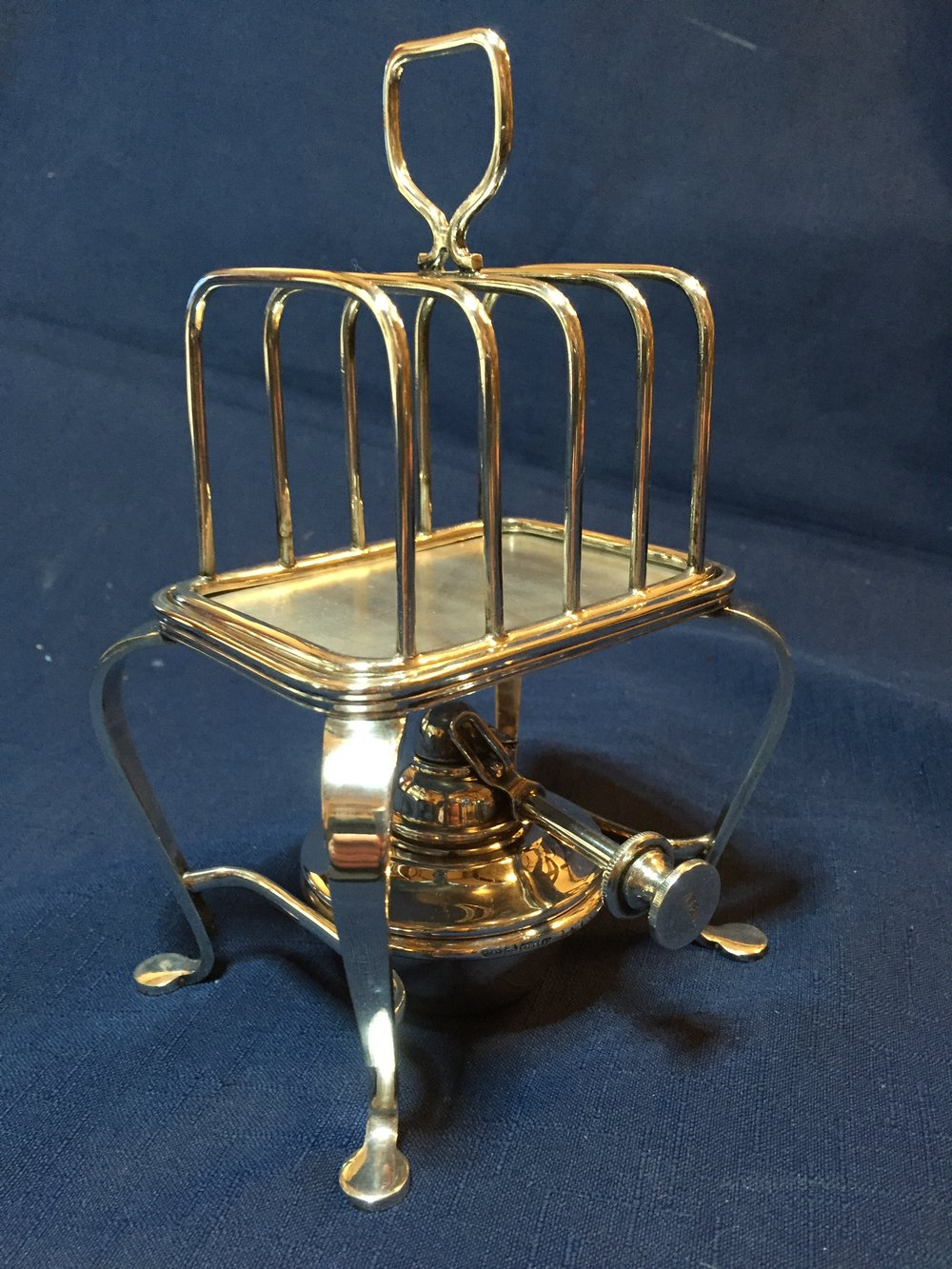 Antiques Atlas Silver Plated Spirit Toast Warmer