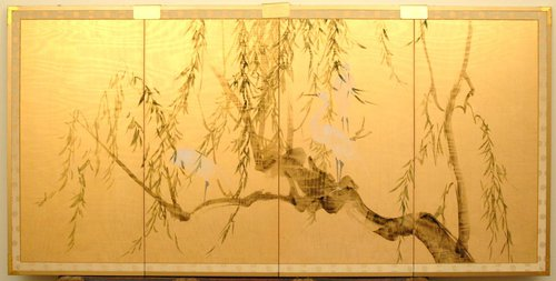 Japanese Hand Painted Screens
