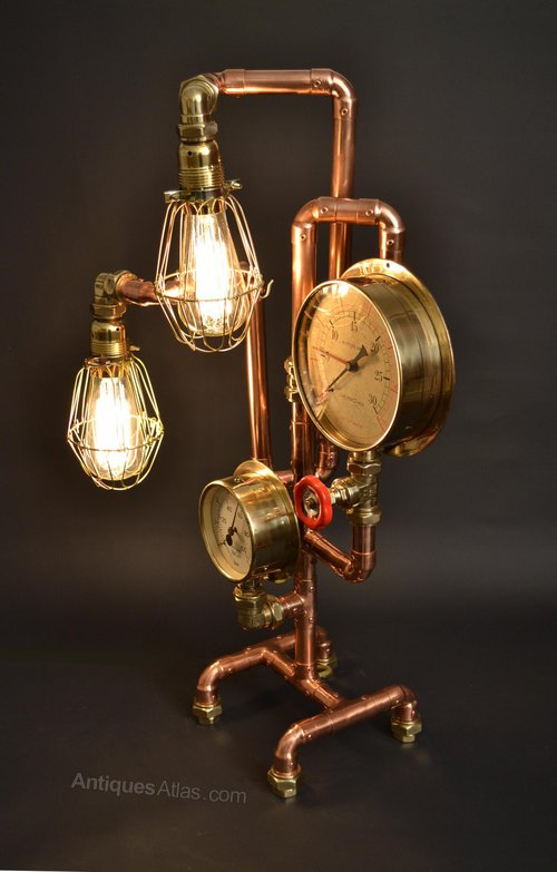 Antiques Atlas Jules Verne Steam Punk Style Desk Lamp