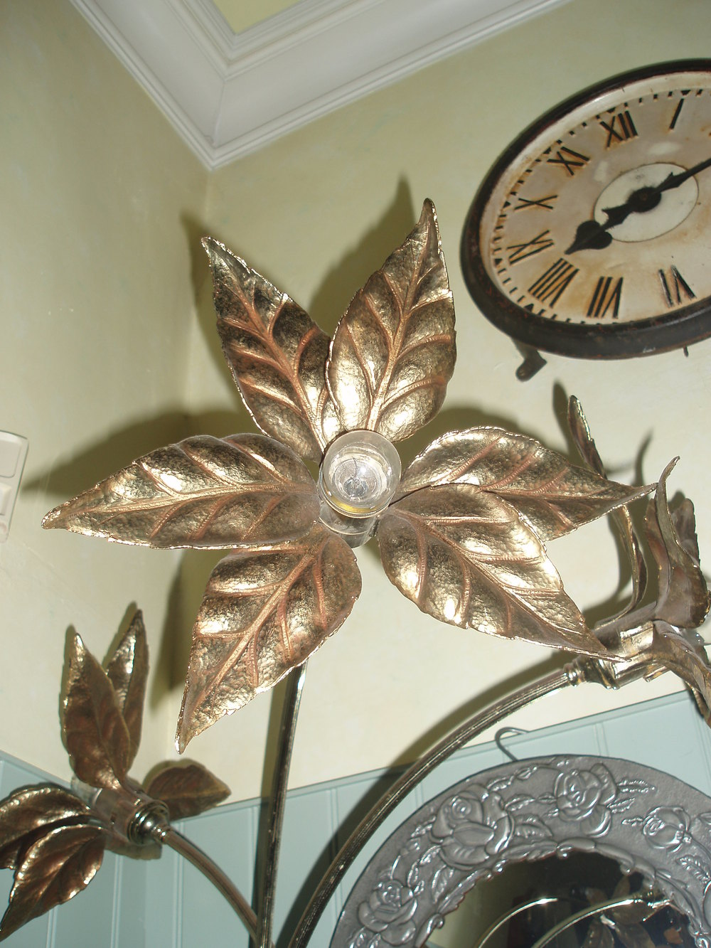 Antiques Atlas Brass Flower Floor Lamp 1940 S