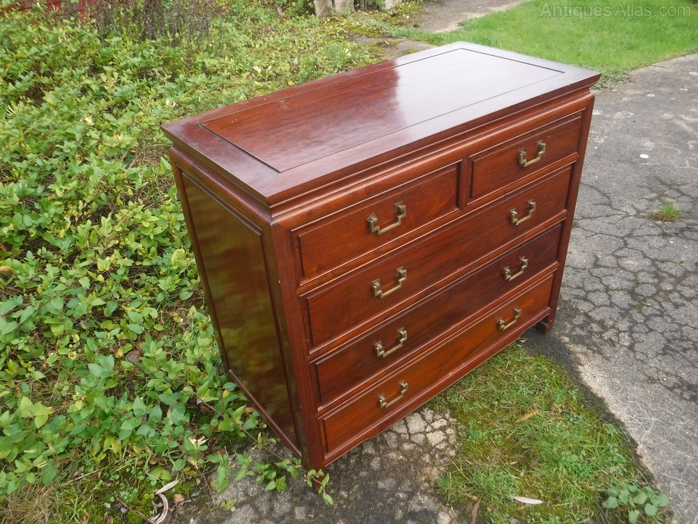 Antiques Atlas Chinese Hardwood Chest Of Drawers
