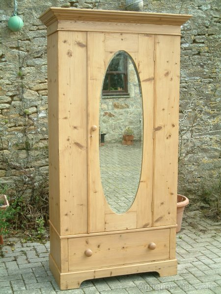 Armoires & Wardrobes Beautiful Antique Pine Wardrobe