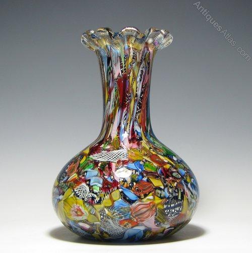 Antiques Atlas Large Murano Arte Vetraria Muranese Glass Vase