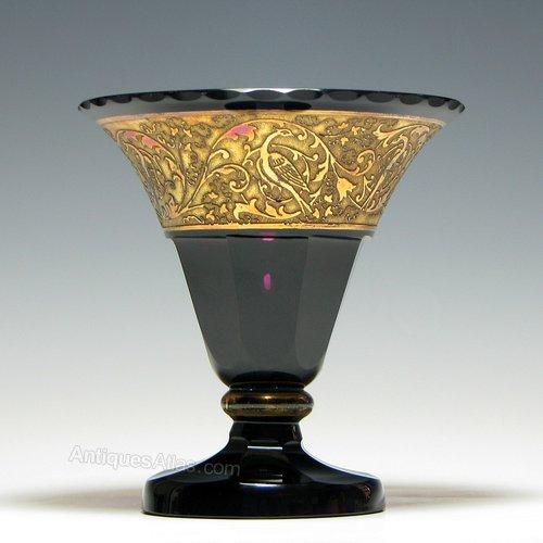Antiques Atlas Moser Amethyst Glass Vase C1920