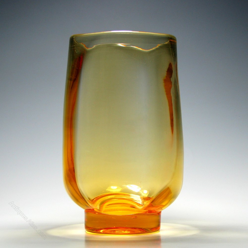 Antiques atlas powell sons old amber glass vase c1930 powell sons old amber glass vase c1930 floridaeventfo Image collections
