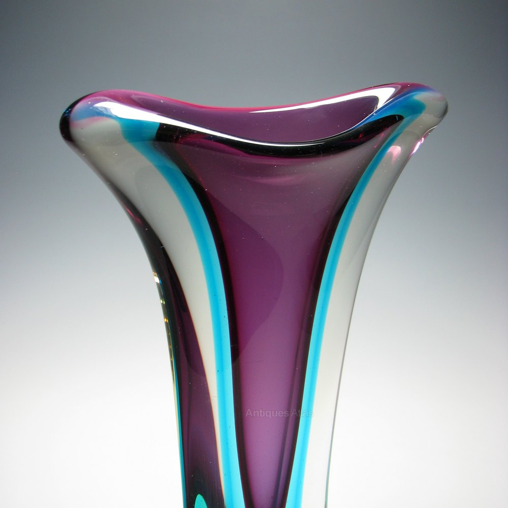 Antiques atlas rare large murano sommerso glass vase c1960 rare large murano sommerso glass vase c1960 murano glass flavio poli vase murano vase reviewsmspy