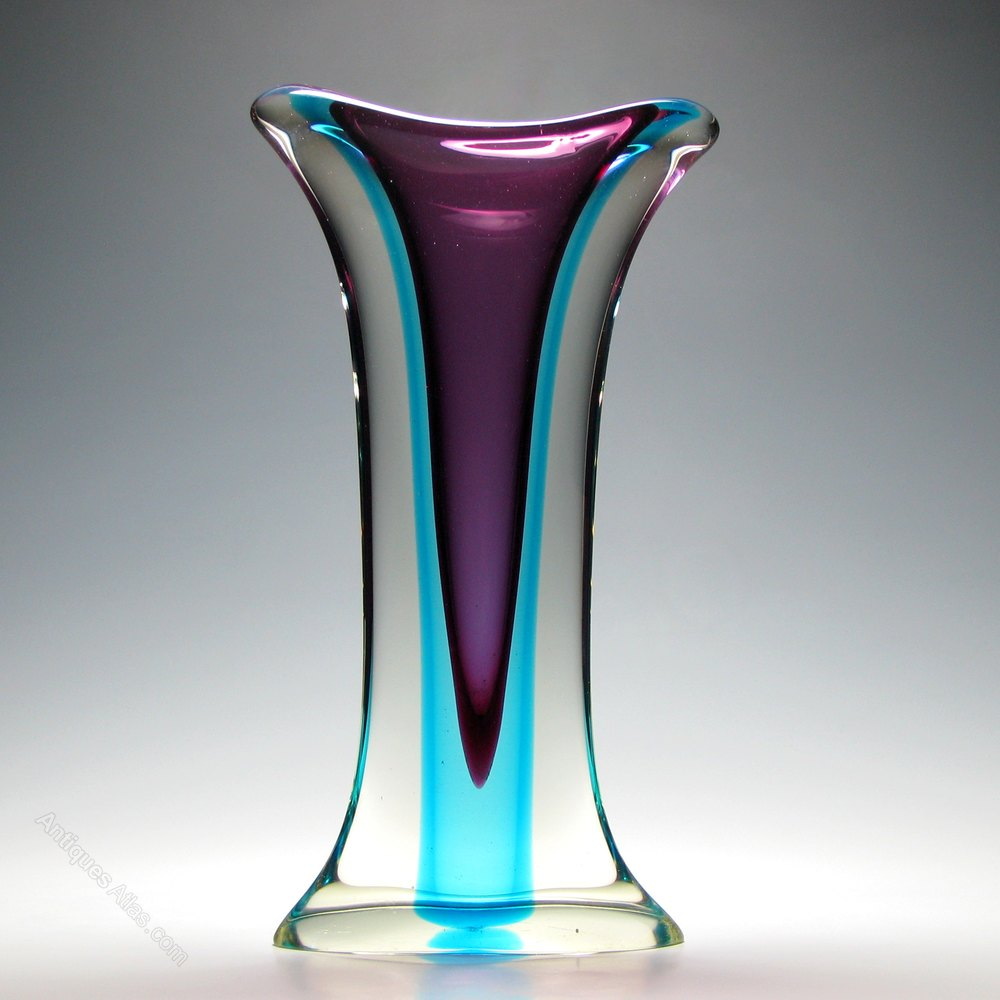 Antiques atlas rare large murano sommerso glass vase c1960 rare large murano sommerso glass vase c1960 reviewsmspy