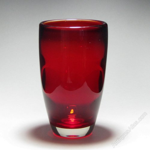 Antiques Atlas Whitefriars Flared Ruby Glass Vase
