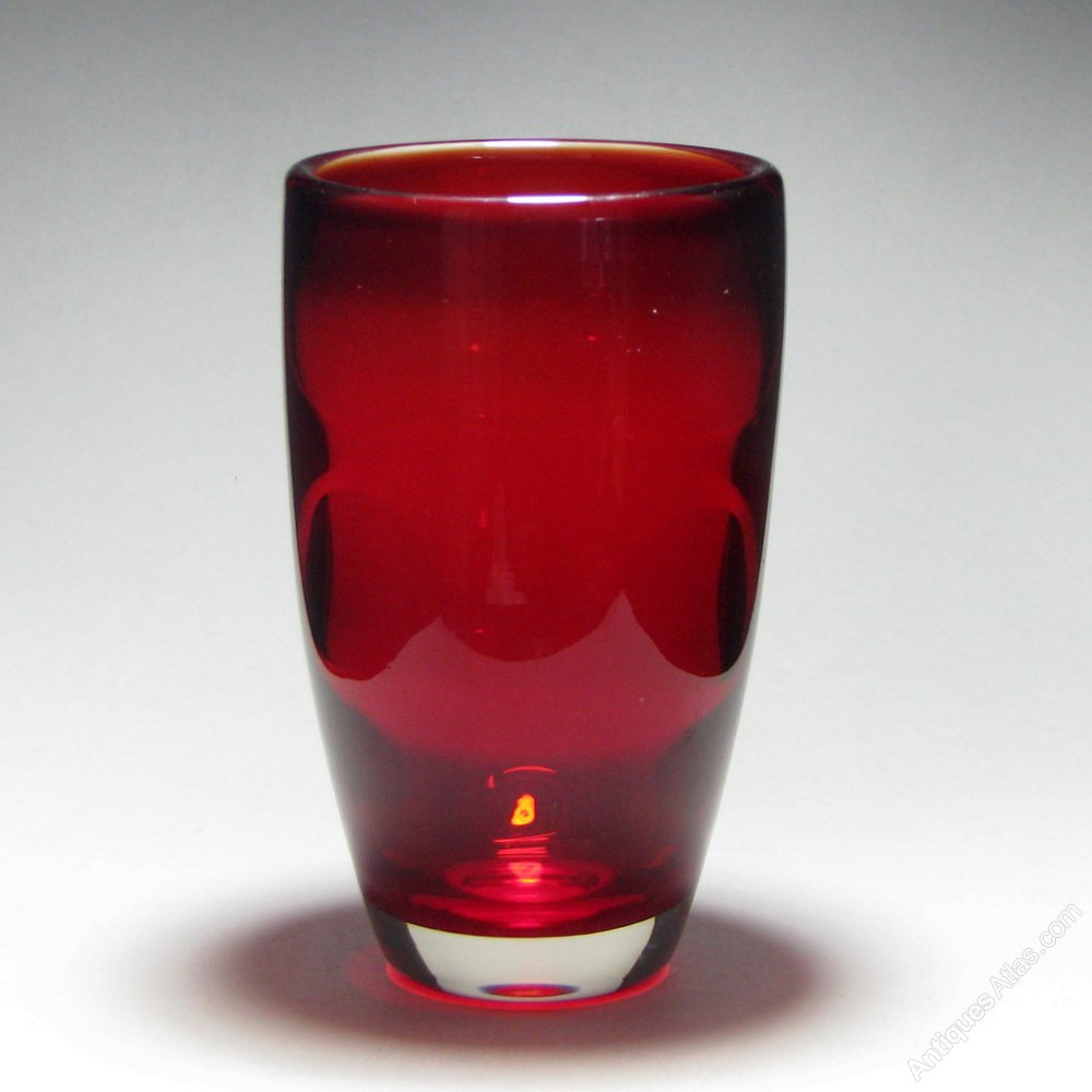 Antiques atlas whitefriars flared ruby glass vase whitefriars flared ruby glass vase reviewsmspy