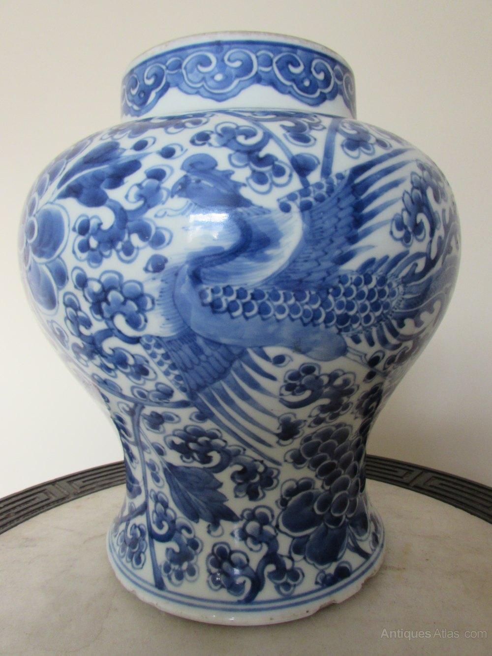 Antiques atlas chinese kangxi blue white phoenix baluster vase chinese kangxi blue white phoenix baluster vase reviewsmspy