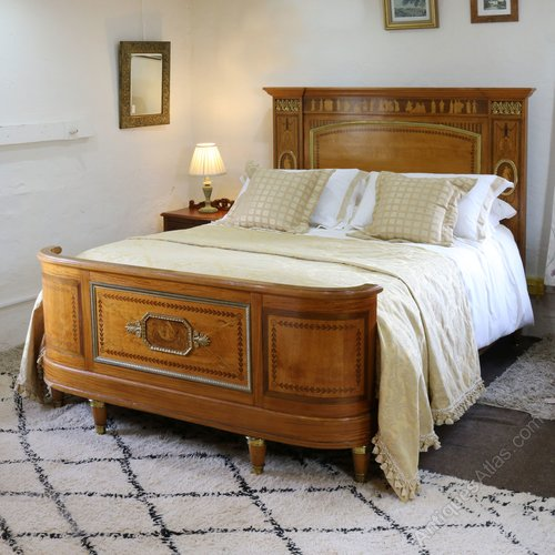 Empire style bed with greco roman inlay work antiques atlas for Empire style bed