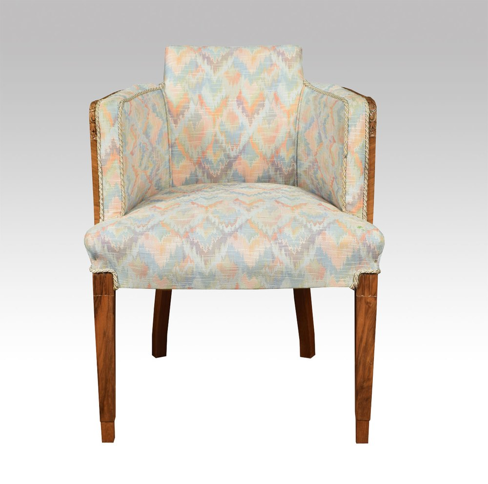 Art Deco Walnut Tub Chair Antiques Atlas