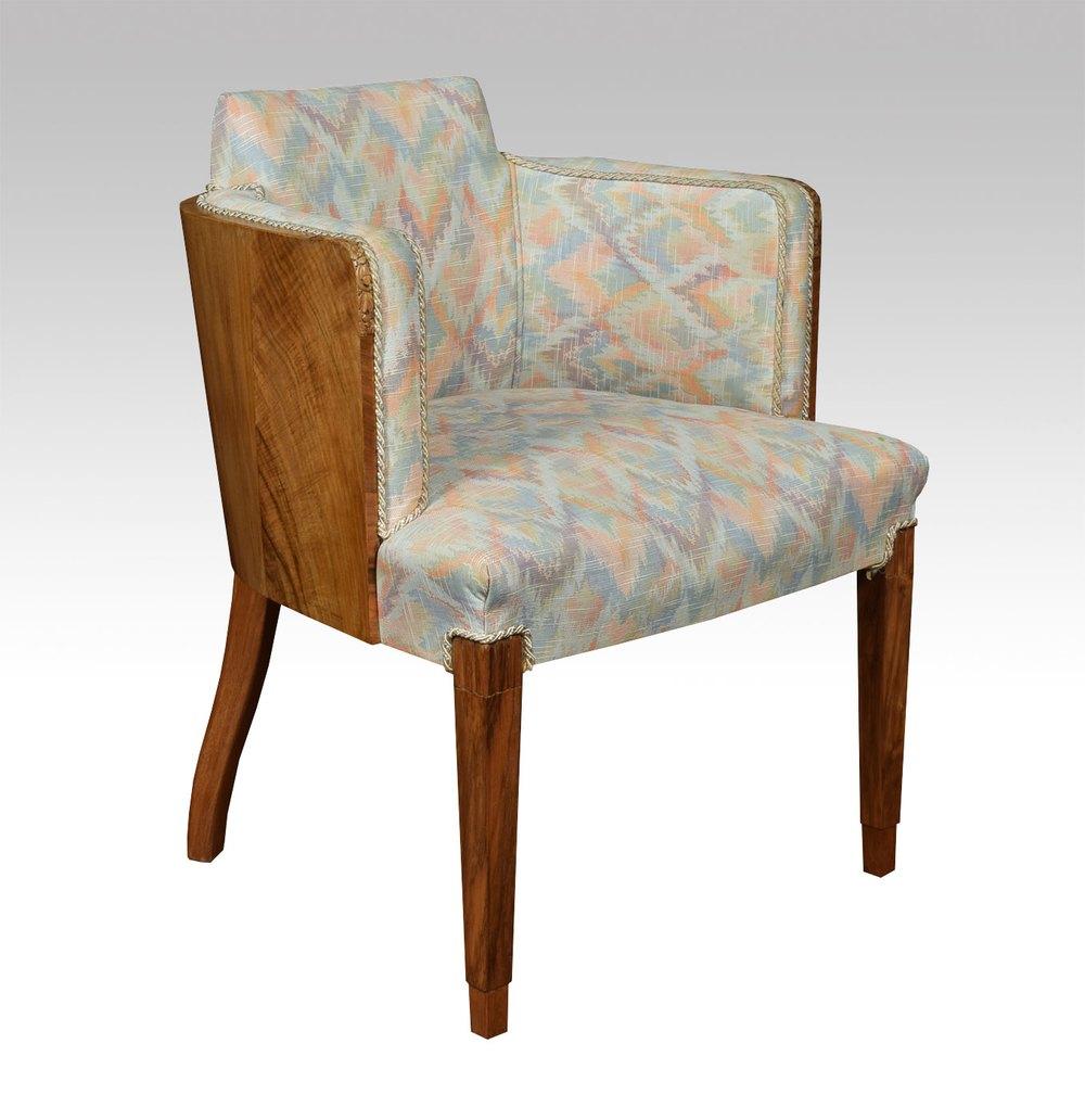 Art deco walnut tub chair antiques atlas for Artistic chairs