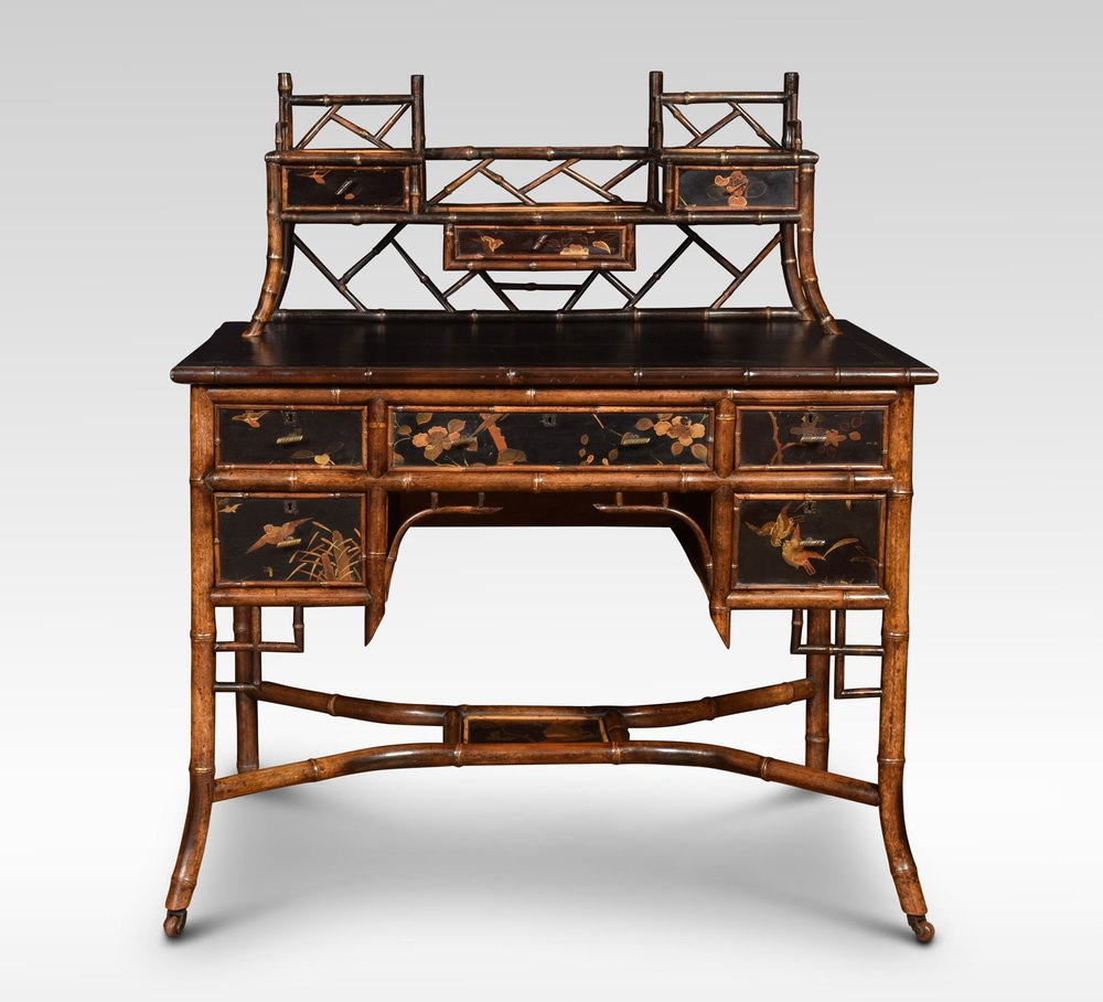 Tremendous Bamboo Black Lacquered Writing Desk Antiques Atlas Download Free Architecture Designs Rallybritishbridgeorg