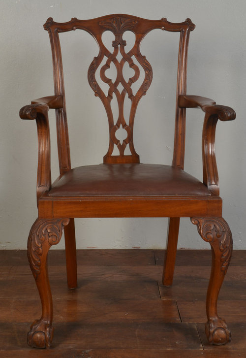 Chippendale Style Arm Chair - Antiques Atlas