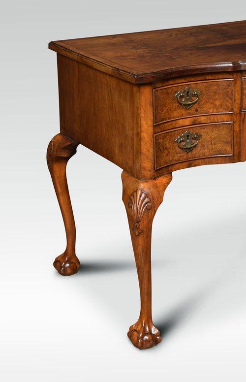 Figured walnut writing desk dressing table antiques atlas for Walnut dressing table