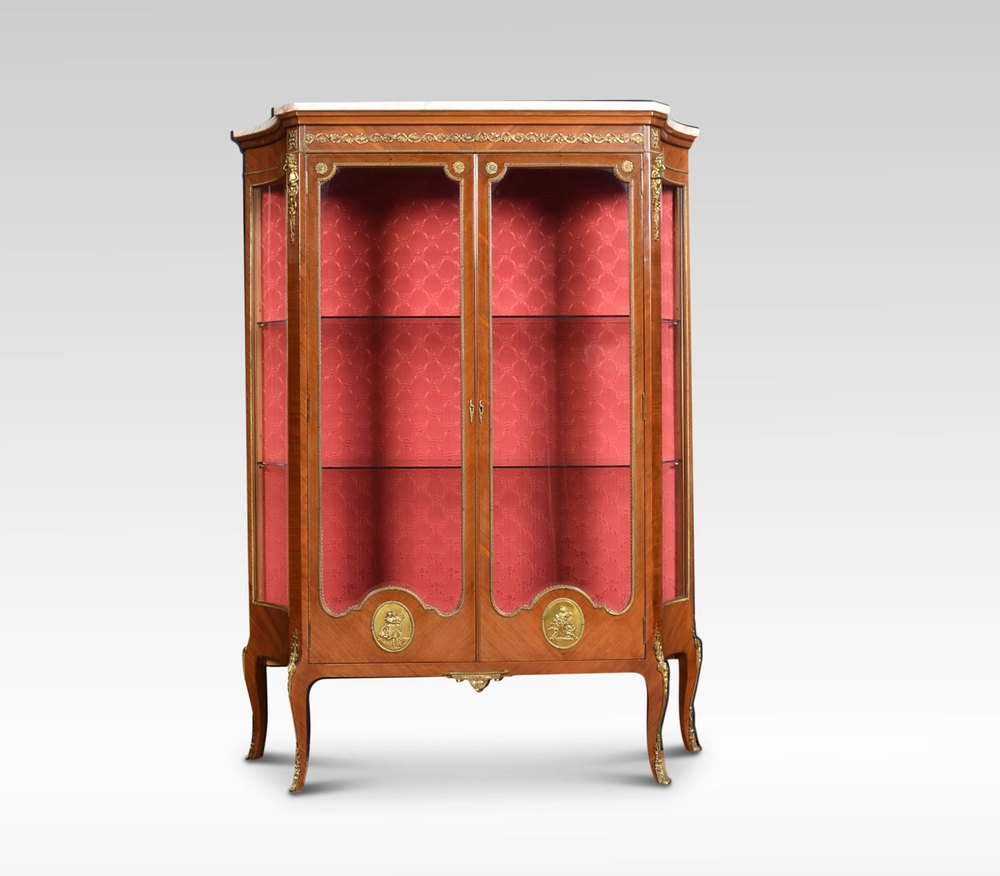 french mahogany and gilt metal mounted vitrine antiques. Black Bedroom Furniture Sets. Home Design Ideas