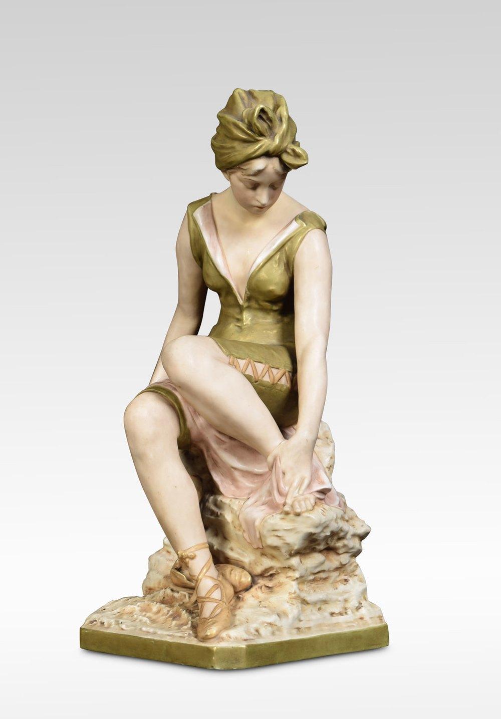 Antiques Atlas Large Royal Dux Bohemia Porcelain Figure
