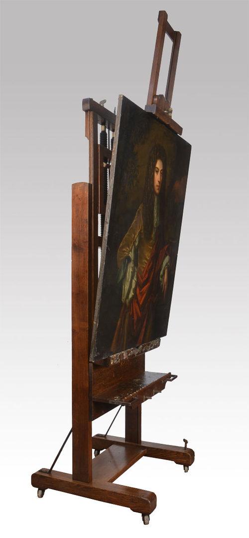 Large Oak Studio Easel From The Studio Of W Antiques Atlas