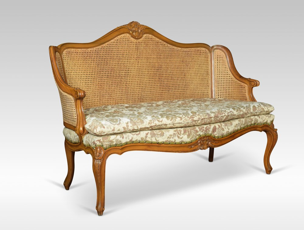 Louis Xv Style Double Caned Bergere Settee Antiques Atlas