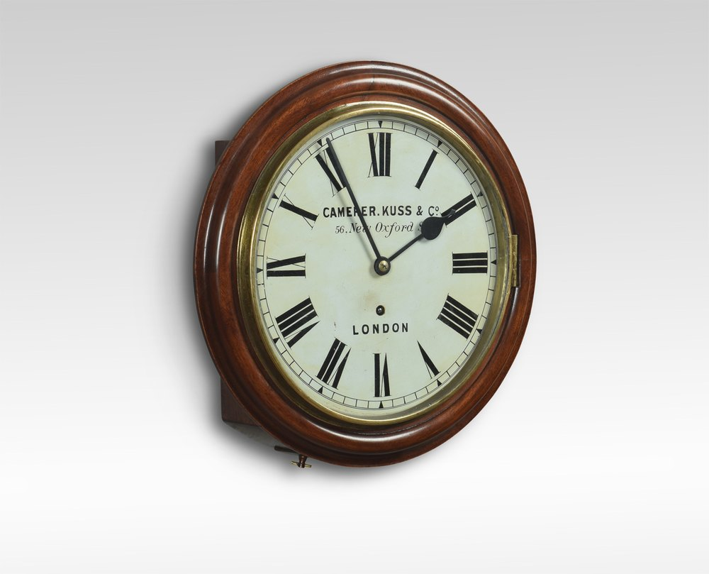 Antiques Atlas Mahogany Wall Clock By Camerer Kuss Co