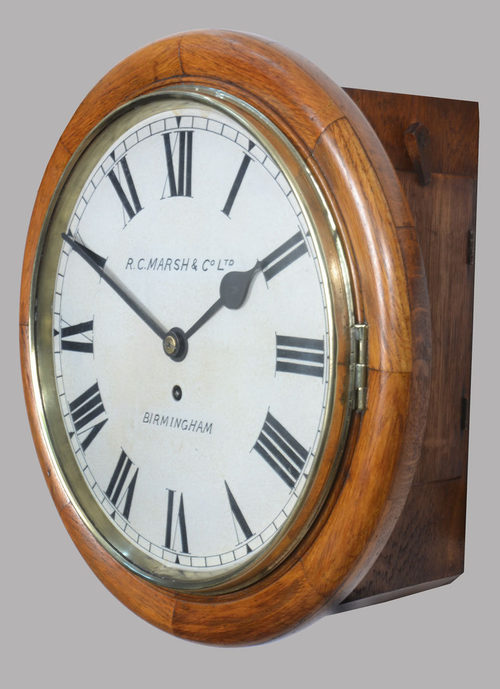 Antiques Atlas Oak Circular Wall Clock