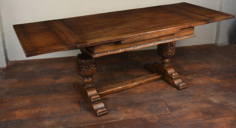 Bon Oak Draw Leaf Refectory Table Antique Draw Leaf Tables ...