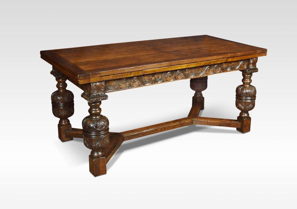Oak Draw Leaf Refectory Table Antiques Atlas