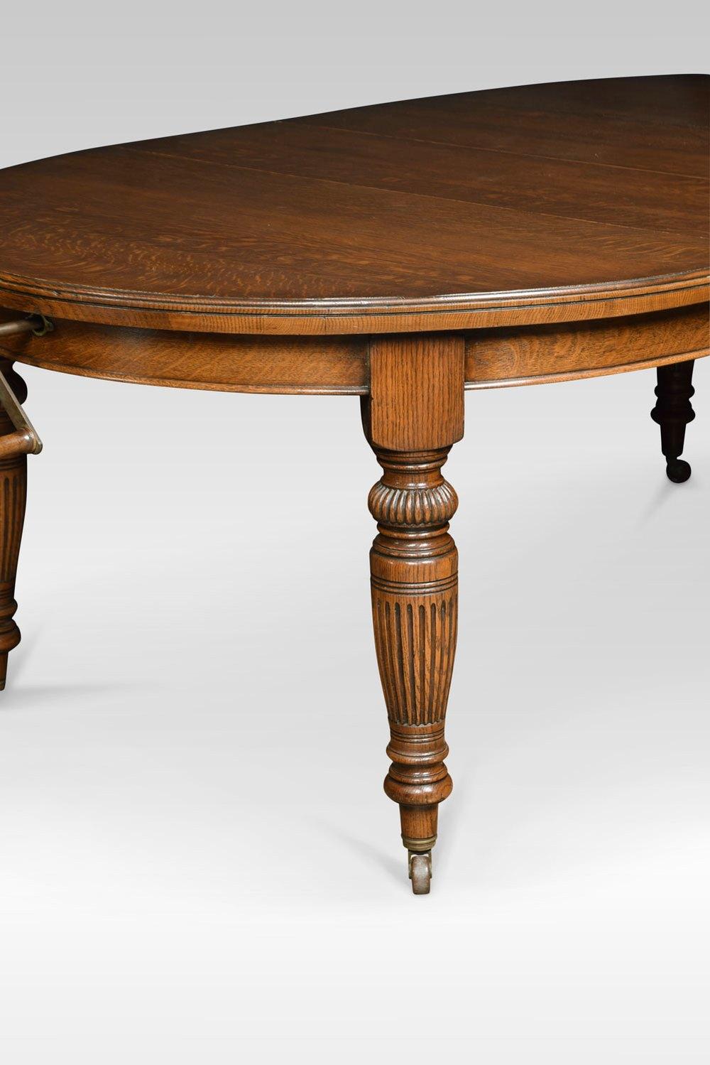 Oak Oval Extending Dining Table Antiques Atlas