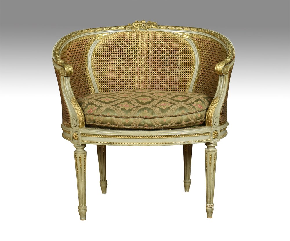 Pair Of French Louis Xvi Style Tub Armchairs Antiques Atlas