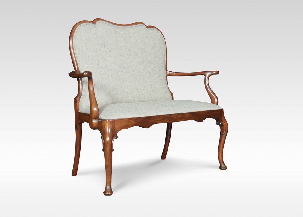 Queen Anne Style Mahogany Two Seater Settee Antiques Atlas