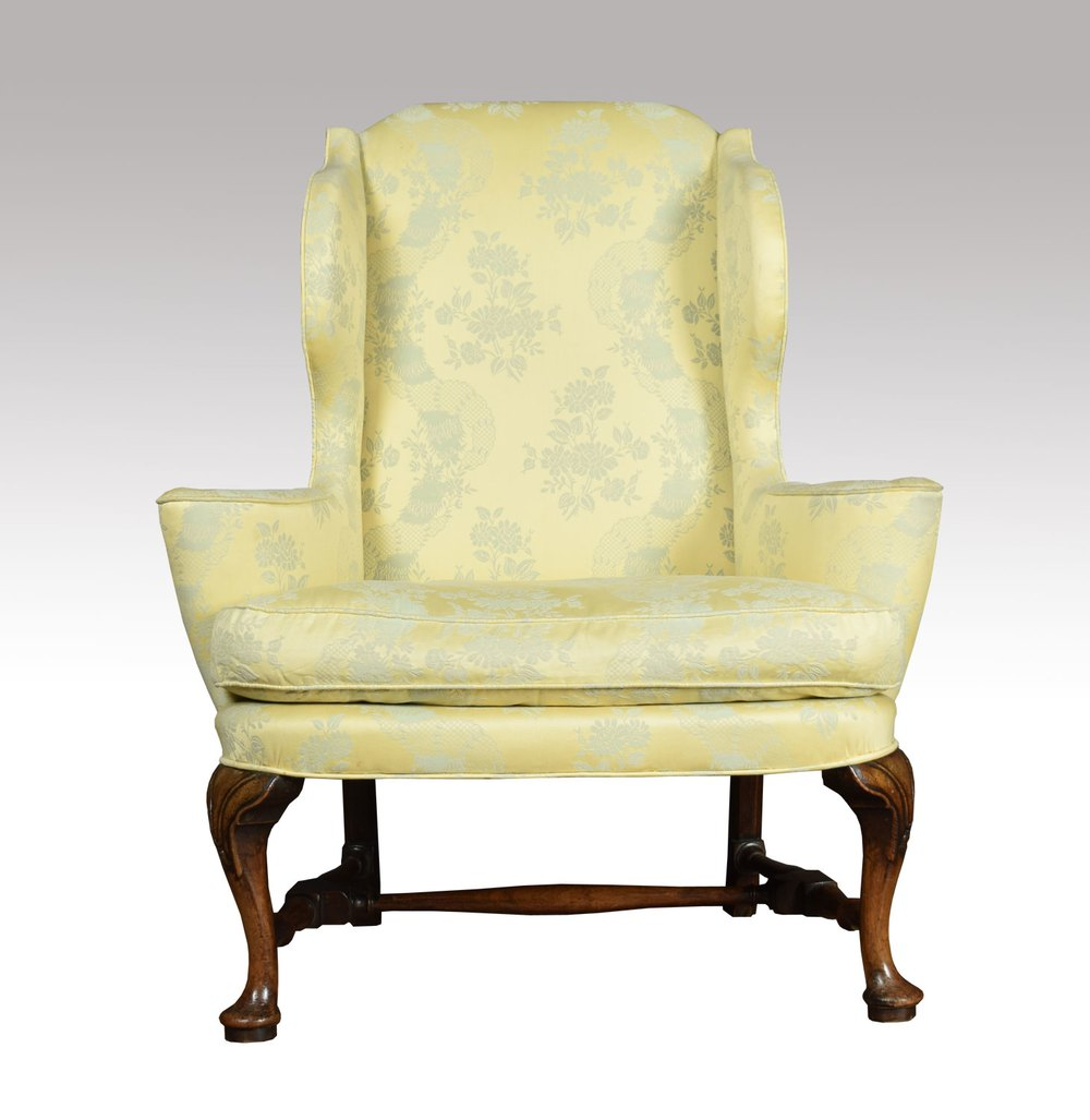 Queen Anne Style Wing Armchair Antiques Atlas