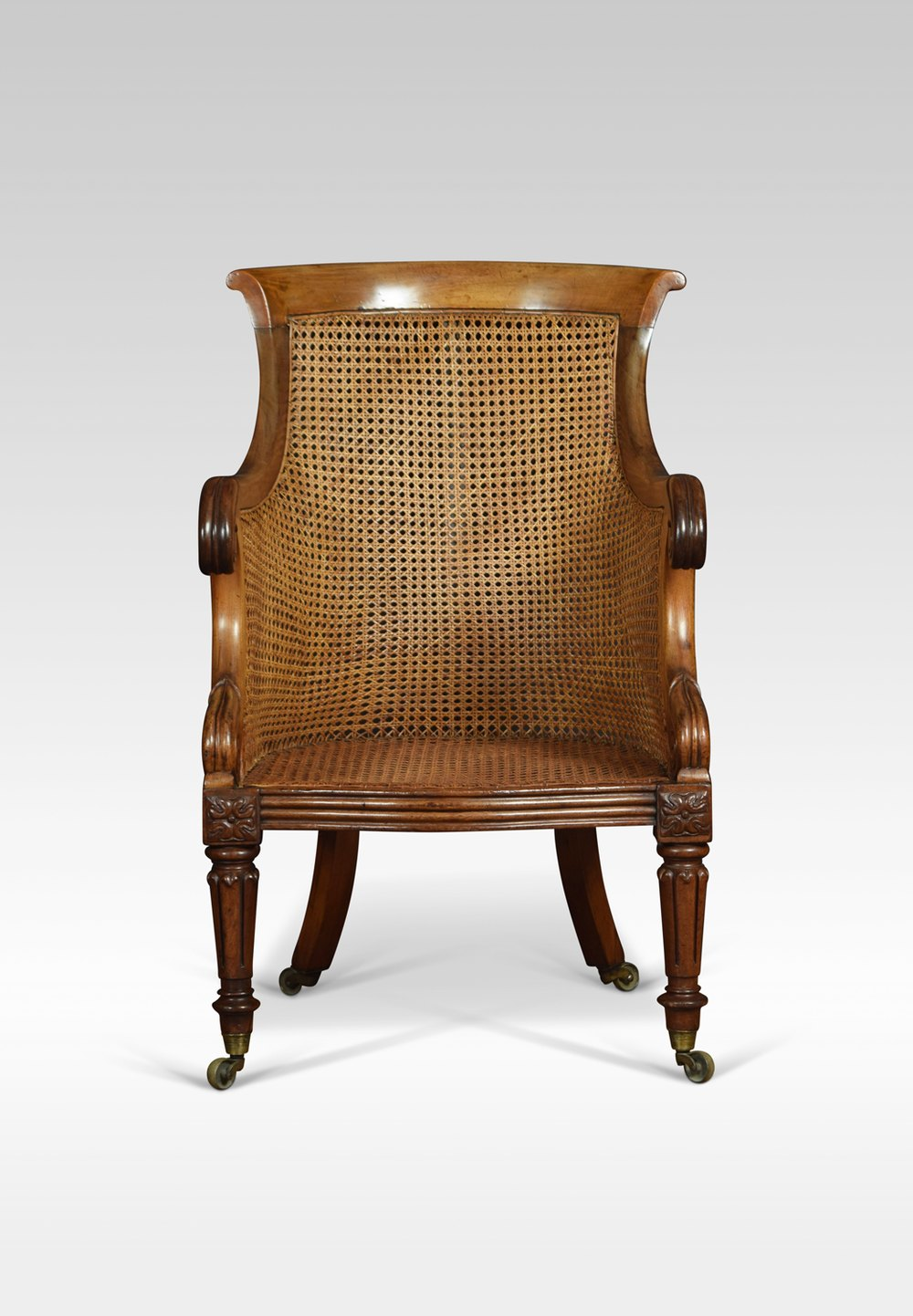 Regency Mahogany Bergere Armchair - Antiques Atlas