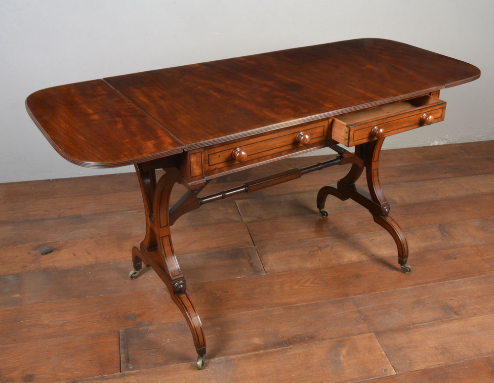 Regency mahogany sofa table antiques atlas for Sofa table antique