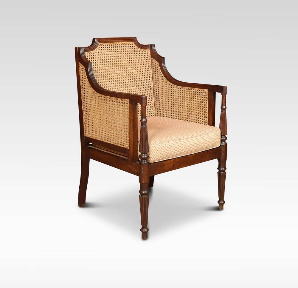 Regency Style Bergere Armchair - Antiques Atlas
